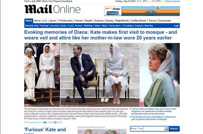 Kate �velata�, in visita alla moschea, dopo le foto della vacanza in Francia