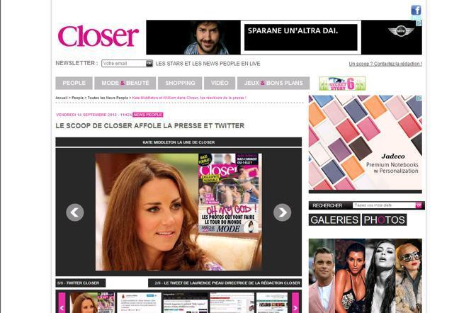 Closer torna sullo scoop anche nella versione online