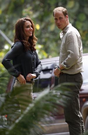 In seguito la coppia reale si � recata al Borneo Rainforest Lodge presso la riserva Danum Valley Research Center a Sabah (Reuters)