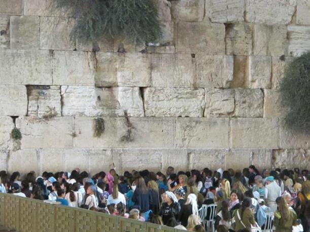 Muro del Pianto, il settore riservato alle donne (foto M.Caprara)