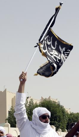 Manifestazioni anti Usa  a Doha, nel Qatar (Ap)