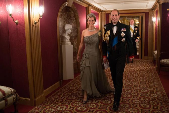 Tra gli ospiti, il principe britannico Edward e sua moglie Sophie (Epa/Grand-Ducal Court/Guy Wolff)