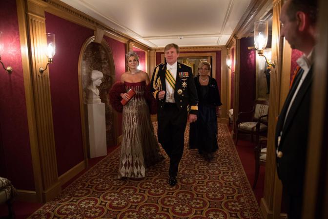 La principessa Maxima e il principe Willem-Alexander dei Paesi Bassi (Epa/Grand-Ducal Court/Guy Wolff)