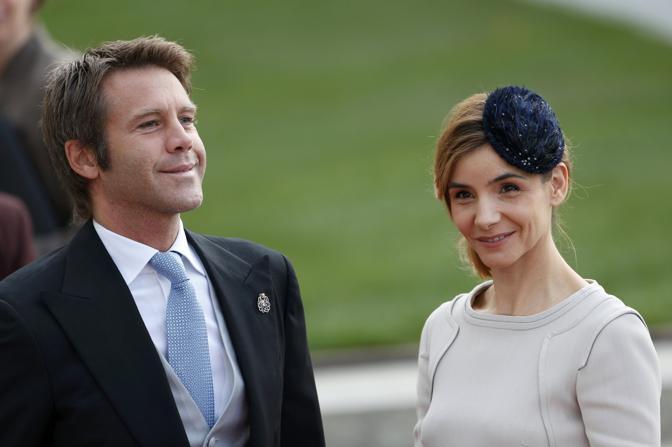 Invitati anche Emanuele Filiberto di Savoia e la moglie Clotilde Courau (Reuters/Lenoir)