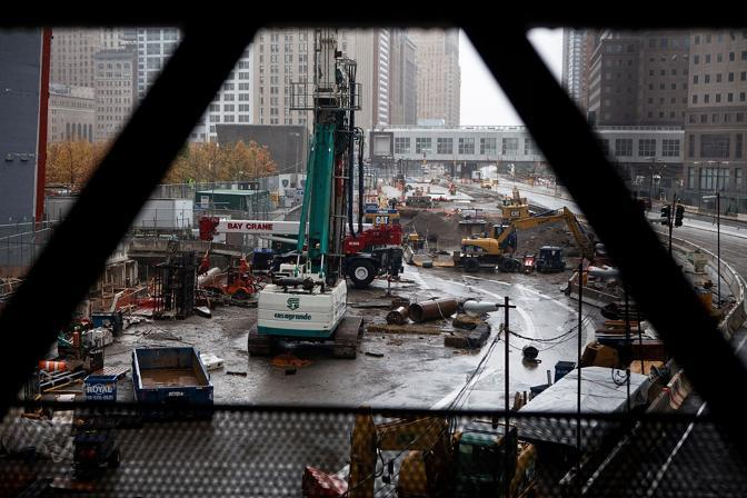 Il cantiere a Ground Zero ( Andrew Burton/Getty Images/Afp)