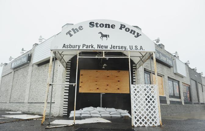 Lo Stone Pony, storico locale legato agli esordi di Springsteen, ad Asbury Park, New Jersey (Michael Loccisano/Getty Images/Afp)