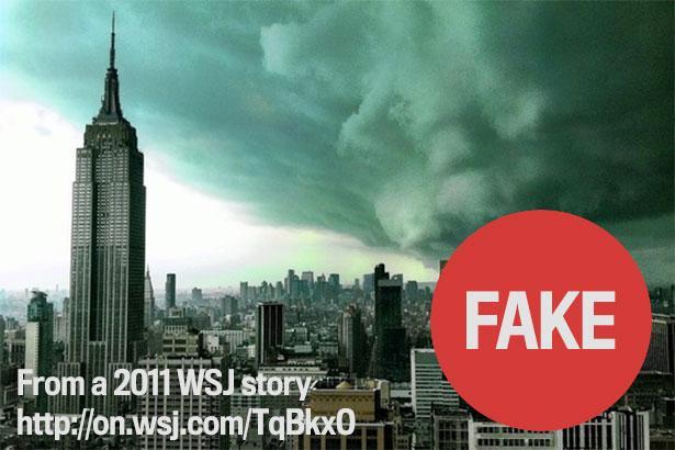 Lo scatto è ripreso dal Wall Street Journal del 2011, un falso