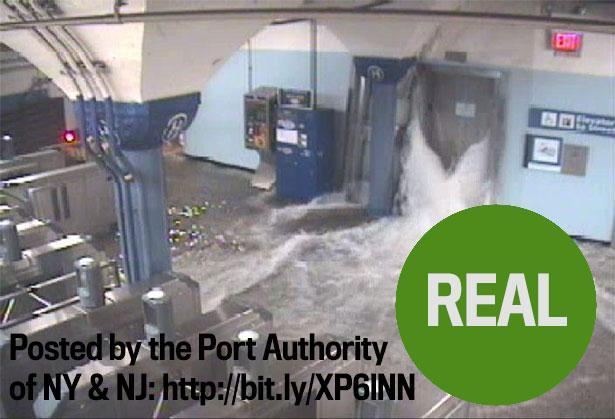 Metro allagata a New York: foto molto sospetta, ma reale
