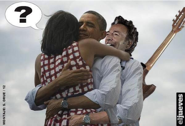 Nell'abbraccio spunta anche Bruce Springsteen