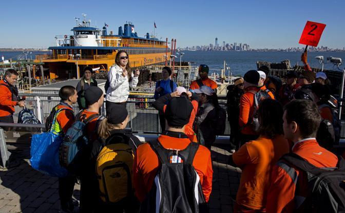 L'imbarco a Staten Island (Ap/Ruttle)