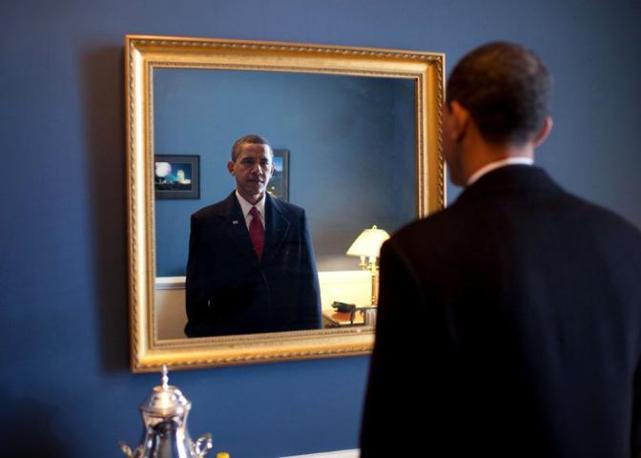 Una vita da obama for Specchio uomo