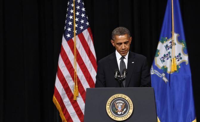 Obama ha anche parlato della necessità di «garantire la sicurezza dei bambini» è questo «è qualcosa che dobbiamo fare tutti insieme» (Reuters/Kevin Lamarque)