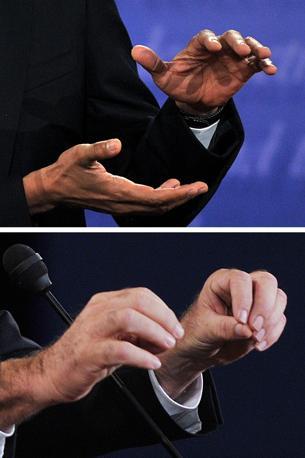 Il linguaggio delle mani (Afp)