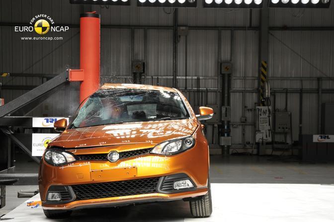 Ai crash test europei di Euroncap, due modelli cinesi per la prima volta sfiorano il massimo dei voti ottenendo 4 stelle su un massimo di 5. Nella foto la MG6: il marchio MG oggi è di proprietà della Shanghai Automotive