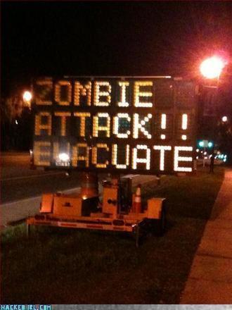 «Evacuare la zona! Attacco zombie» (internet)