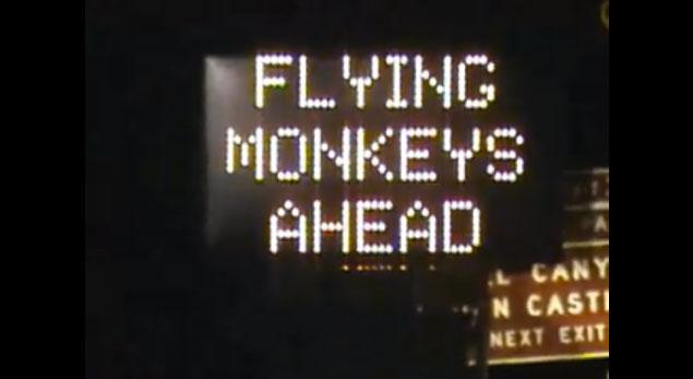 «Scimmie volanti in avvicinamento»