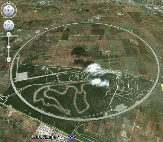 L'impianto di Nardò visto da Google Earth.