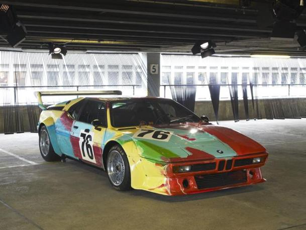 La Bmw Art car di Andy Warhol.(Bmw press)