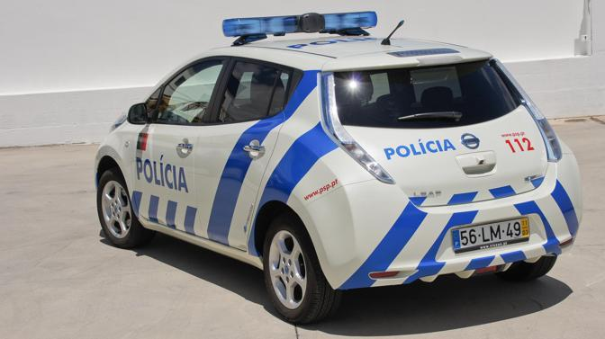 La Nissan Leaf della polizia. (Nissan)