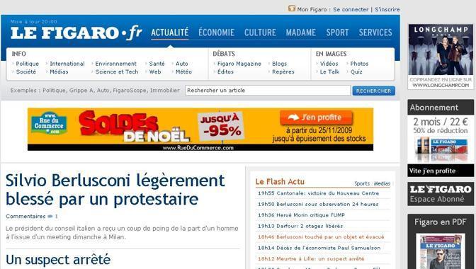 La home page di Figaro