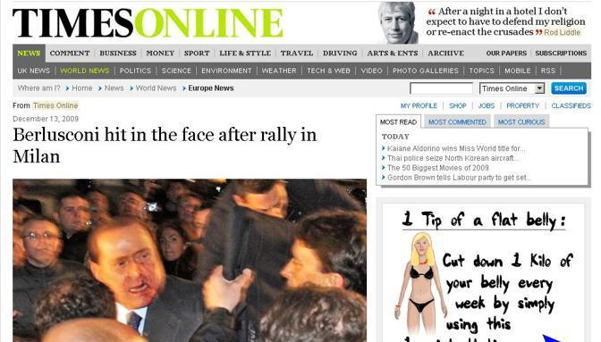 La home page di Times