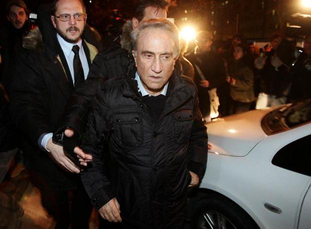 La visita a Berlusconi di Emilio Fede (Ansa)