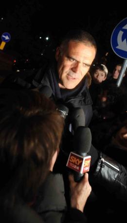 Il medico personale di Berlusconi, Alberto Zangrillo, davanti al San Raffaele (Infophoto)
