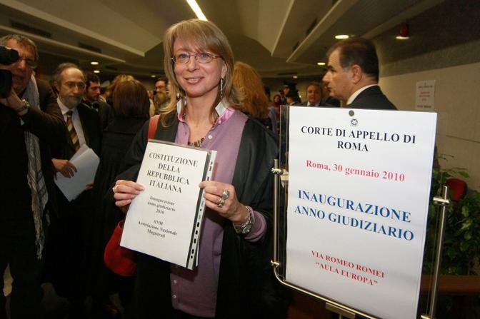 L'inaugurazione dell'anno giudiziario a Roma (Infophoto)