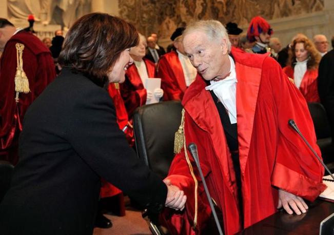 L'on. Casellati e il presidente della corte d'appello di Milano (Congiu)