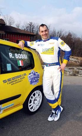 Riccardo Bossi con la sua Renault Clio R3 della scuderia Motosport. Il suo miglior risultato è stato il terzo posto in una prova dell?Europeo (Andrea Bernasconi)