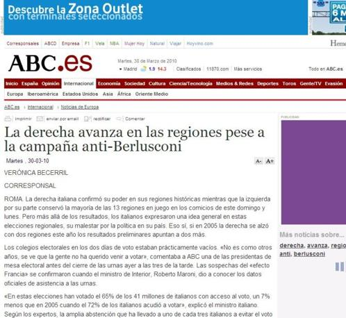 La pagina di Abc