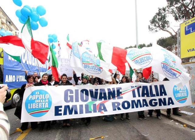 La manifestazione del centrodestra a Roma (Infophoto)