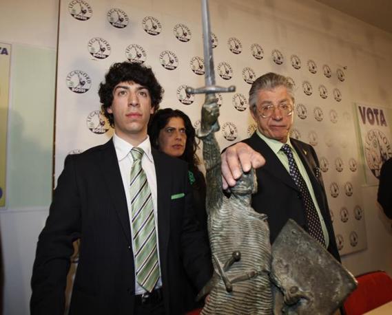 Renzo e Umberto Bossi (Ap)