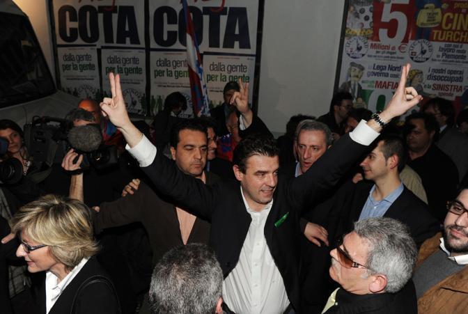 La gioia di Roberto Cota (Ansa)