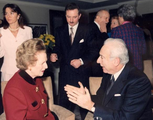 Francesco Cossiga con Margaret Thatcher