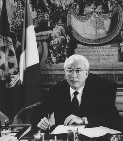 31 dicembre 1989 - Francesco Cossiga rivolge il tradizionale messaggio di fine anno agli italiani (Ap)
