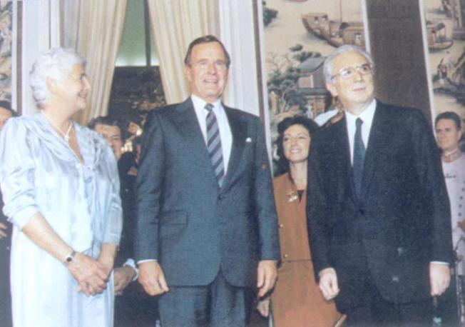 1987 - Francesco Cossiga con George Bush