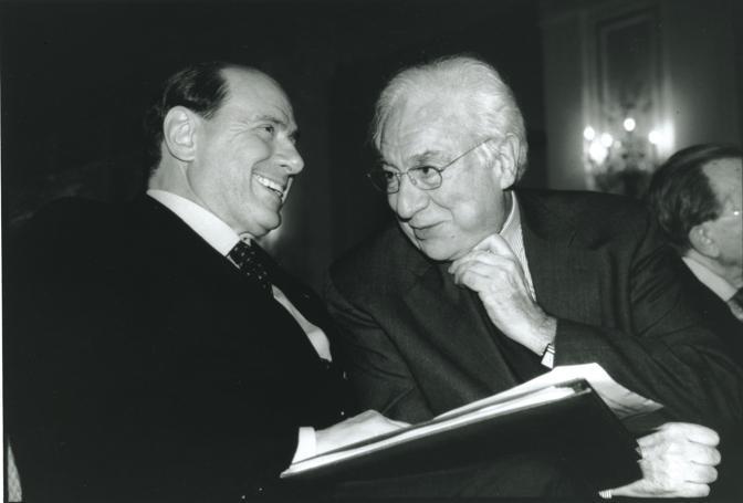Francesco Cossiga e Silvio Berlusconi