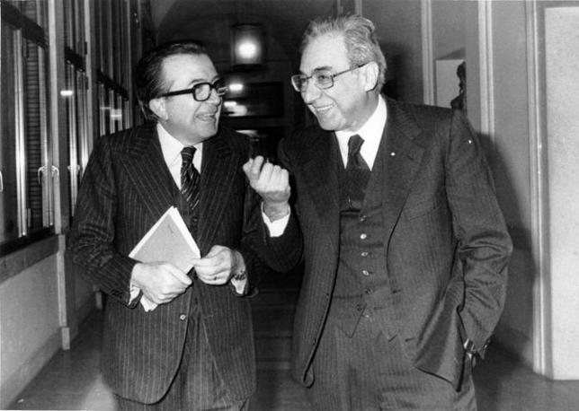 1970 - Francesco Cossiga con Giulio Andreotti (Fotogramma)