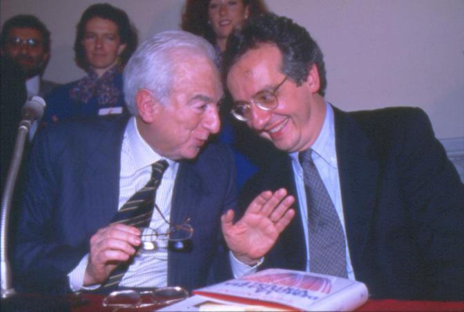 18 novembre 1999 - Francesco Cossiga con Walter Veltroni (Contrasto)