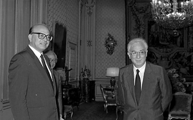 Roma, luglio 1985 -  Francesco Cossiga e Bettino Craxi (Ansa)
