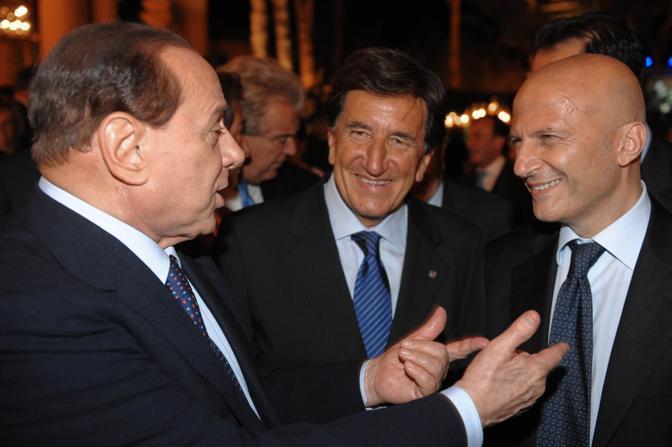 Silvio Berlusconi, Umberto Scapagnini, Augusto Minzolini (Imagoeconomica)