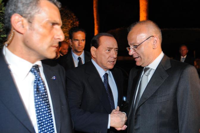 Berlusconi e Rotondi (Imagoeconomica)