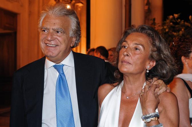 Denis Verdini e la moglie Maria Simonetti Fossombroni (Imagoeconomica)