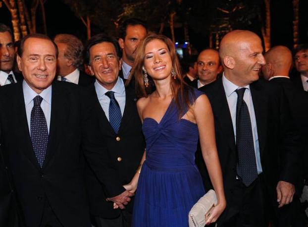 Berlusconi, Scapagnini, Gabriella Giammanco e Augusto Minzolini (Imagoeconomica)