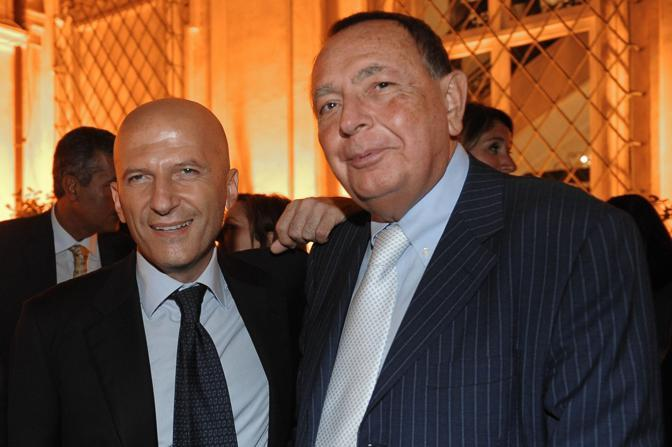 Minzolini con Paolo Bonaiuti (Imagoeconomica)