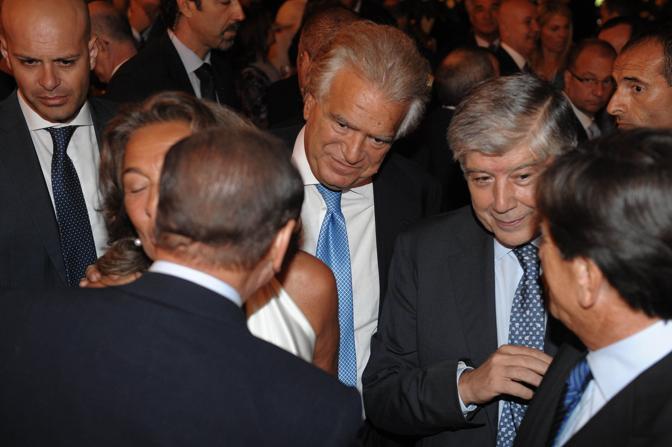 Berlusconi, Verdini e Giacomo Caliendo (Imagoeconomica)