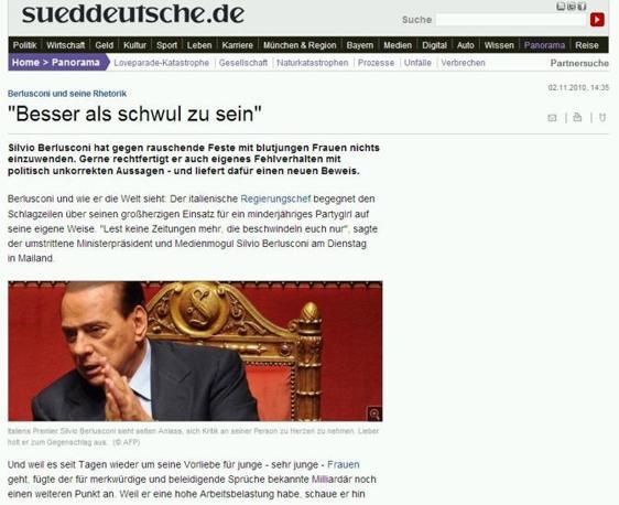 Il tedesco Suddeutsche Zaitung