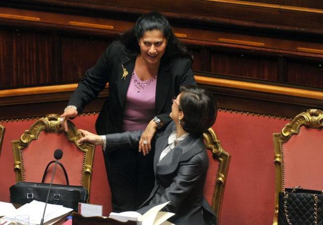 Rosy Mauro e Mariastella Gelmini (Milestone)