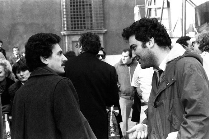 Roma, 1977: D'Alema con Goffredo Bettini